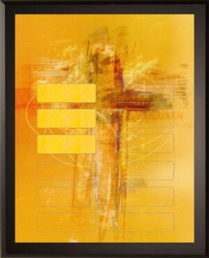 Abstract Cross - 12 Plate Perpetual Plaque