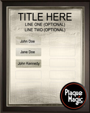Two Tone - 12 Plate Perpetual Plaque