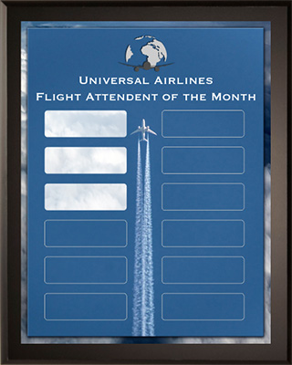 Flight Attendant of the Month - Sample Plaque