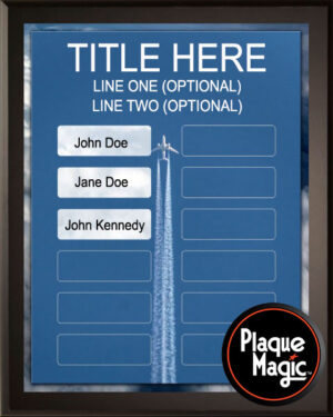 Airplane Rides - 12 Plate Perpetual Plaque