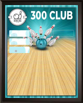 Aqua Bowling - Top Scores of the Month - Sample Plaque