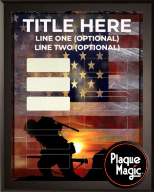 Army - 12 Plate Perpetual Recognition & Award Plaque