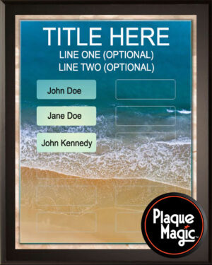 Beach Waves - 12 Plate Perpetual Recognition & Award Plaque