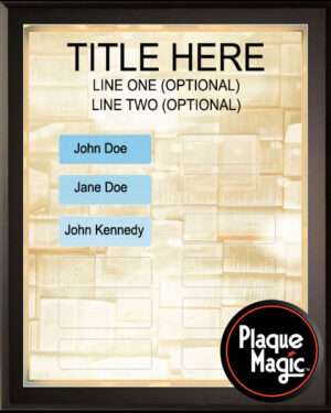 Book Club - 12 Plate Perpetual Plaque
