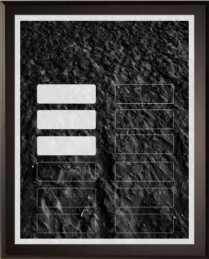 Black Coal - 12 Plate Perpetual Plaque