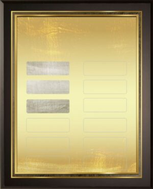 Bold Gold - 12 Plate Perpetual Plaque