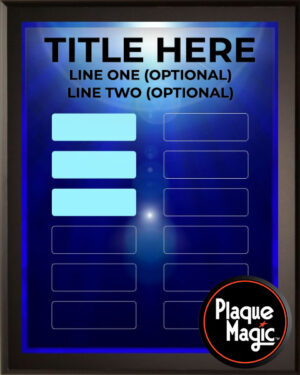 Blue Ray - 12 Plate Perpetual Plaque