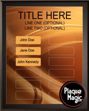 Bronze Swirl - 12 Plate Perpetual Plaque