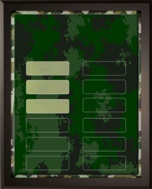 Camouflage - 12 Plate Perpetual Plaque