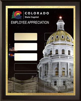 Colorado Gold - Employee Appreciation - Sample Plaque