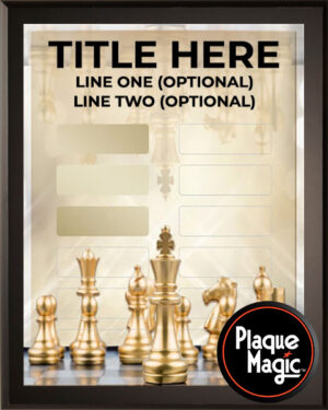 Chess - 12 Plate Perpetual Plaque