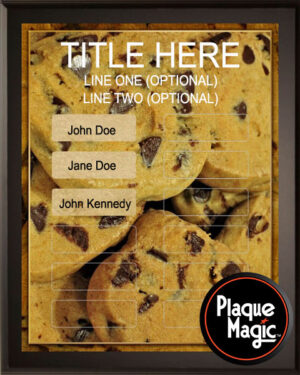 Chocolate Chip Cookies - 12 Plate Perpetual Plaque