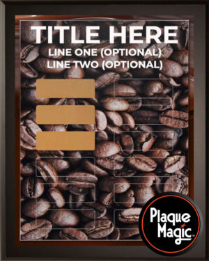 Coffee Bean - 12 Plate Perpetual Plaque