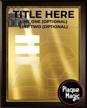 Colorado Gold - 12 Plate Perpetual Plaque