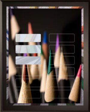 Colored Pencils - 12 Plate Perpetual Plaque