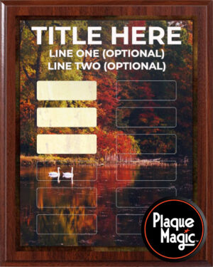 Colored Leaves - 12 Plate Perpetual Plaque