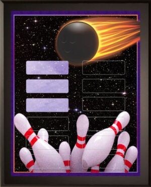 Cosmic Bowling - 12 Plate Perpetual Plaque