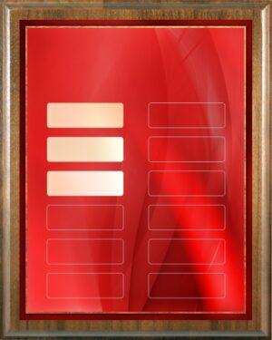 Crimson Red - 12 Plate Perpetual Plaque
