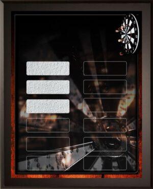 Dart Wars - 12 Plate Perpetual Plaque