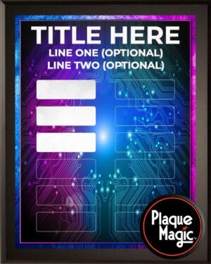 Digitron - 12 Plate Perpetual Plaque