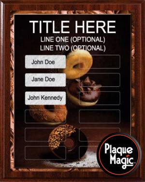 Donut Fun - 12 Plate Perpetual Plaque
