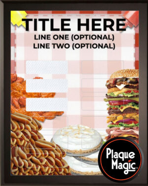 Eat Up! - 12 Plate Perpetual Plaque