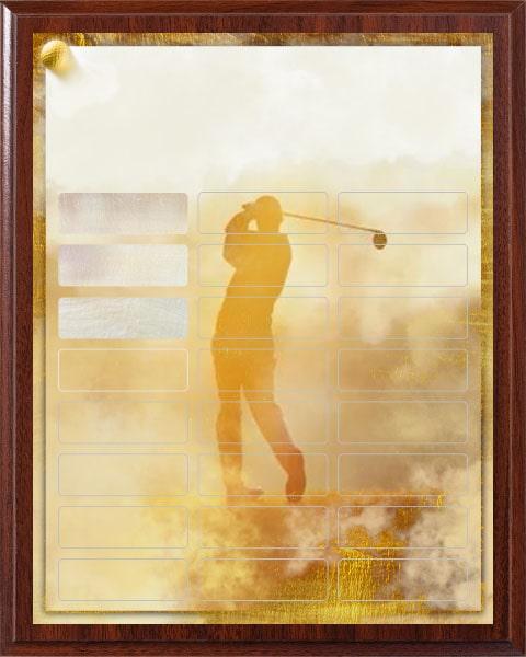 Fantasy Golf - 24 Plate Perpetual Plaque