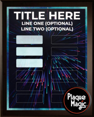 Fiber Optic - 12 Plate Perpetual Plaque