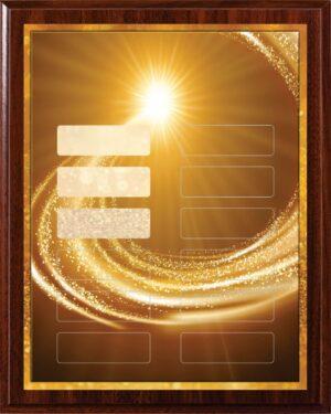 Gold Sparkle - 12 Plate Perpetual Plaque