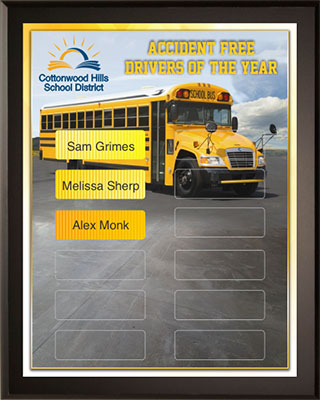 Driver of the Year Award Plaque