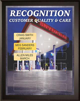 Customer Quality & Care Award Plaque