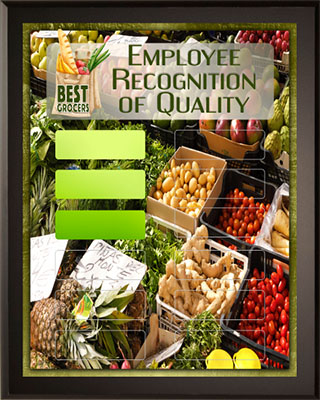 Employee Recognition of Quality Award Plaque