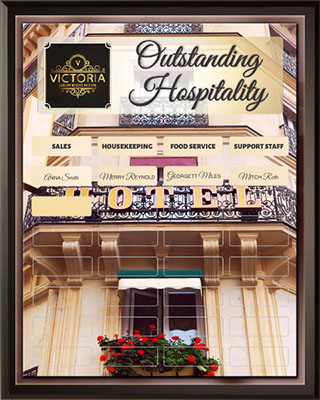 Outstanding Hospitality Award Plaque