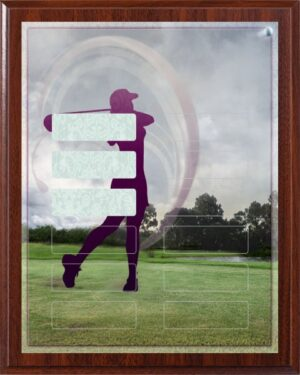Lady Golf - 12 Plate Perpetual Plaque