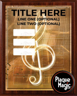 Classical Music Notes - 12 Plate Perpetual Plaque