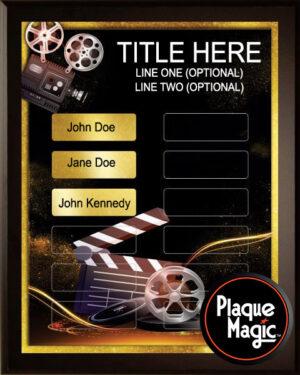 Movie Magic - 12 Plate Perpetual Plaque