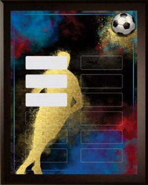 Spirit Soccer - 12 Plate Perpetual Plaque