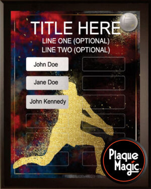 Spirit Volleyball - 12 Plate Perpetual Plaque