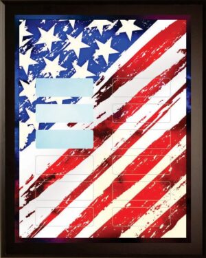 Stars and Stripes - 12 Plate Perpetual Plaque