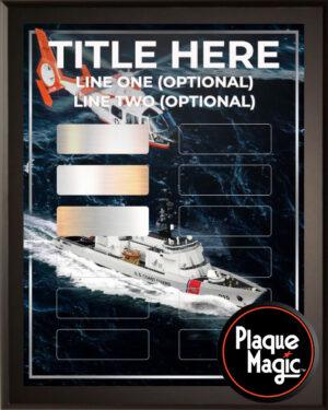 Coast Guard - 12 Plate Perpetual Plaque