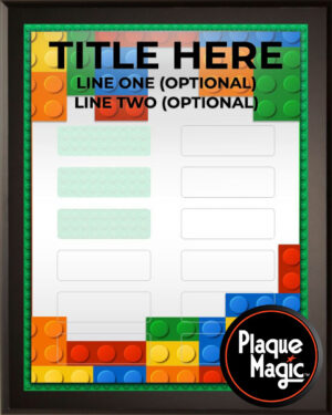 Building Blocks - Perpetual Recognition Award Plaque - 12Plate