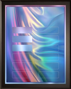 Colorful Satin - Perpetual Recognition Award Plaque - 12Plate