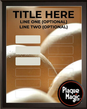 Eggs - 12 Plate Perpetual Plaque