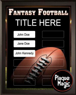 Fantasy Football - 12 Plate Perpetual Plaque