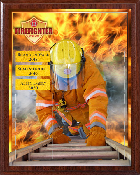 Fighting Fire - Perpetual Recognition Award Plaque