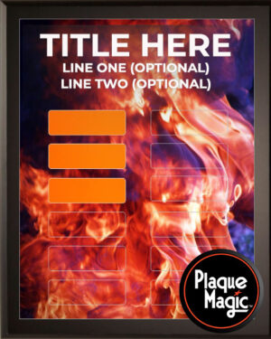 Fire Mania - 12 Plate Perpetual Plaque