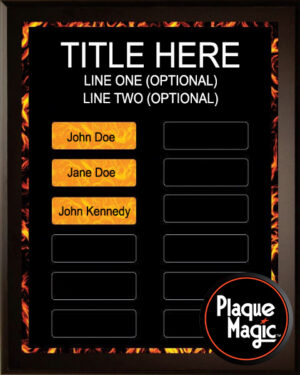 Fire - 12 Plate Perpetual Plaque