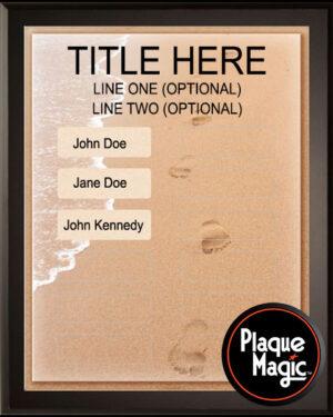Footprints - 12 Plate Perpetual Plaque