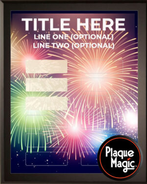 Fireworks - 12 Plate Perpetual Plaque