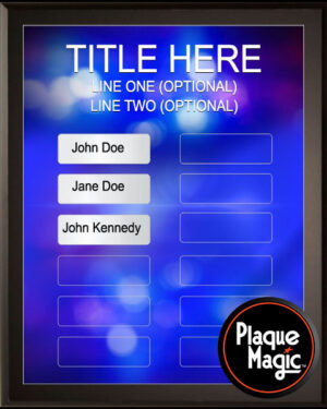 First Response - 12 Plate Perpetual Plaque